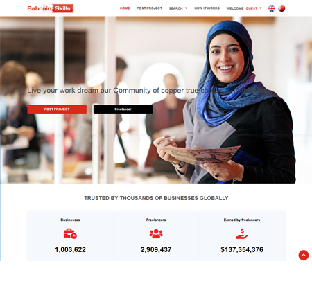 Bahrain skills Freelancer marketplace