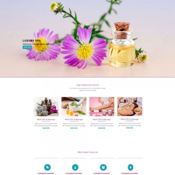 Salon Beauty parlor and spa website template