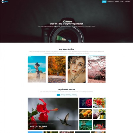 photography website design for photographers