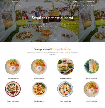 Recipe contest website design