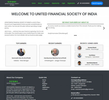 UNITED FINANCIAL SOCIETY OF INDIA