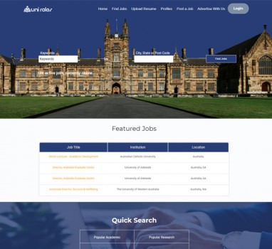 Uniroles university job portal